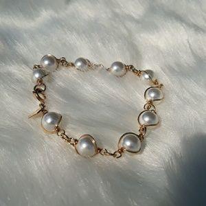 Faux pearl colored bracelet